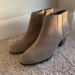 NWB Lucky Brand Tulayne Suede Brindle Booties 8.5